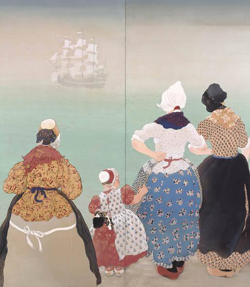 《長崎へ航く》1931年 個人蔵