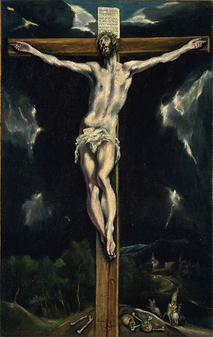 エル・グレコ(本名ドメニコス・テオトコプーロス)《十字架のキリスト》、油彩/カンヴァス、国立西洋美術館