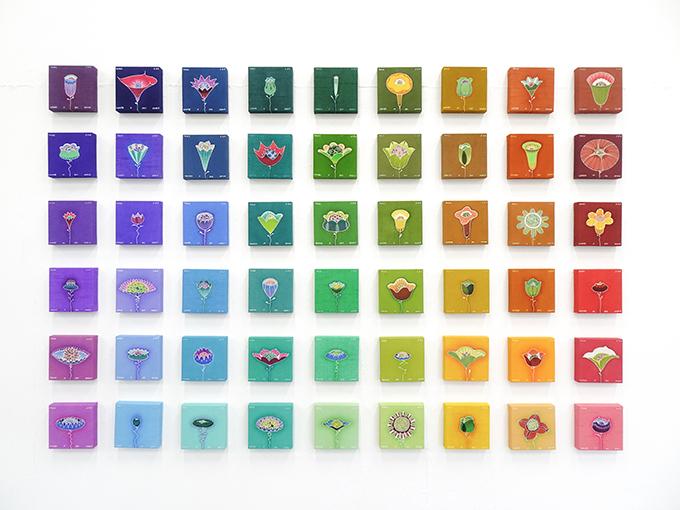 曾斯琴《人間花像》 2020(令和2)年 東京藝術大学蔵 ©ZENG SIQIN 2021