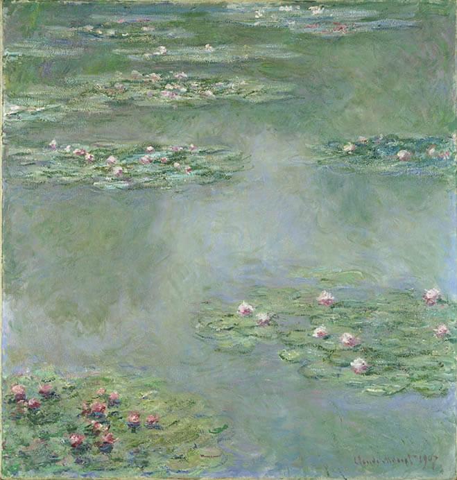 クロード・モネ《睡蓮》1907 年 ポーラ美術館蔵