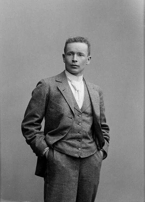 建築家エリエル・サーリネンの肖像写真Photo: Daniel Nyblin/ Finnish Heritage Agency, 1897