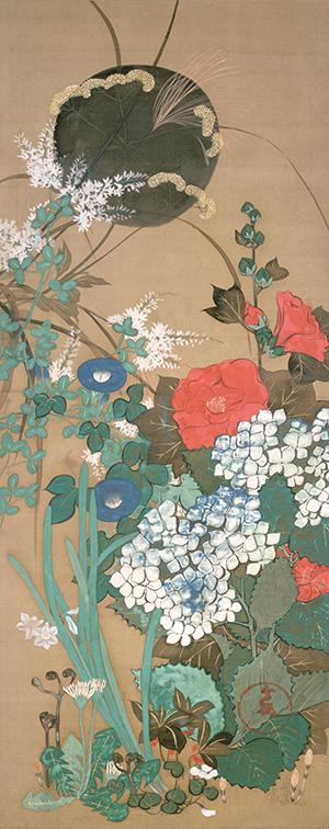 池田孤邨《四季草花図》 19世紀 東京藝術大学蔵