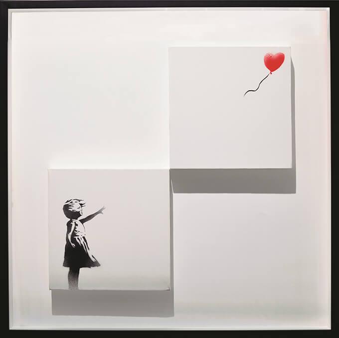 バンクシー《風船と少女》Girl with Balloon (Diptych) 2006年 個人蔵