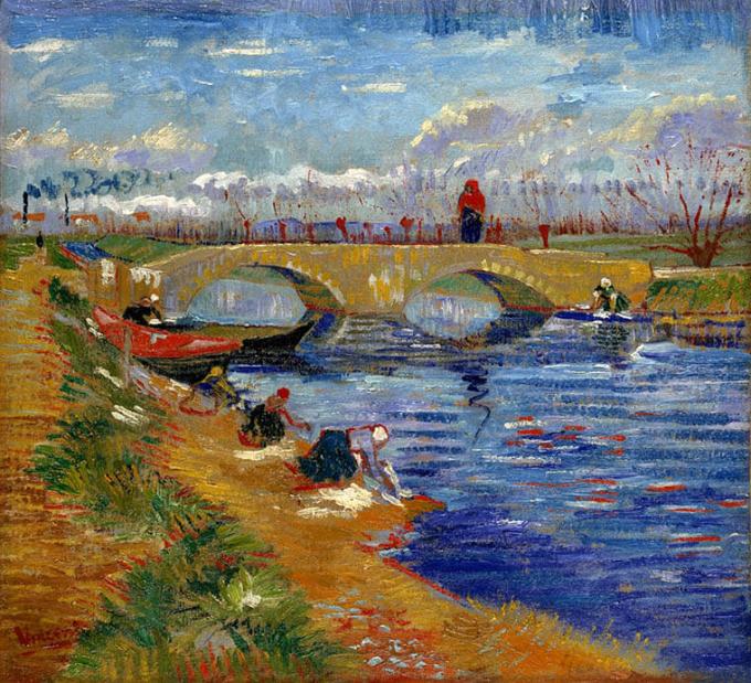 フィンセント・ファン・ゴッホ《ヴィゲラ運河にかかるグレーズ橋》1888 年 ポーラ美術館蔵