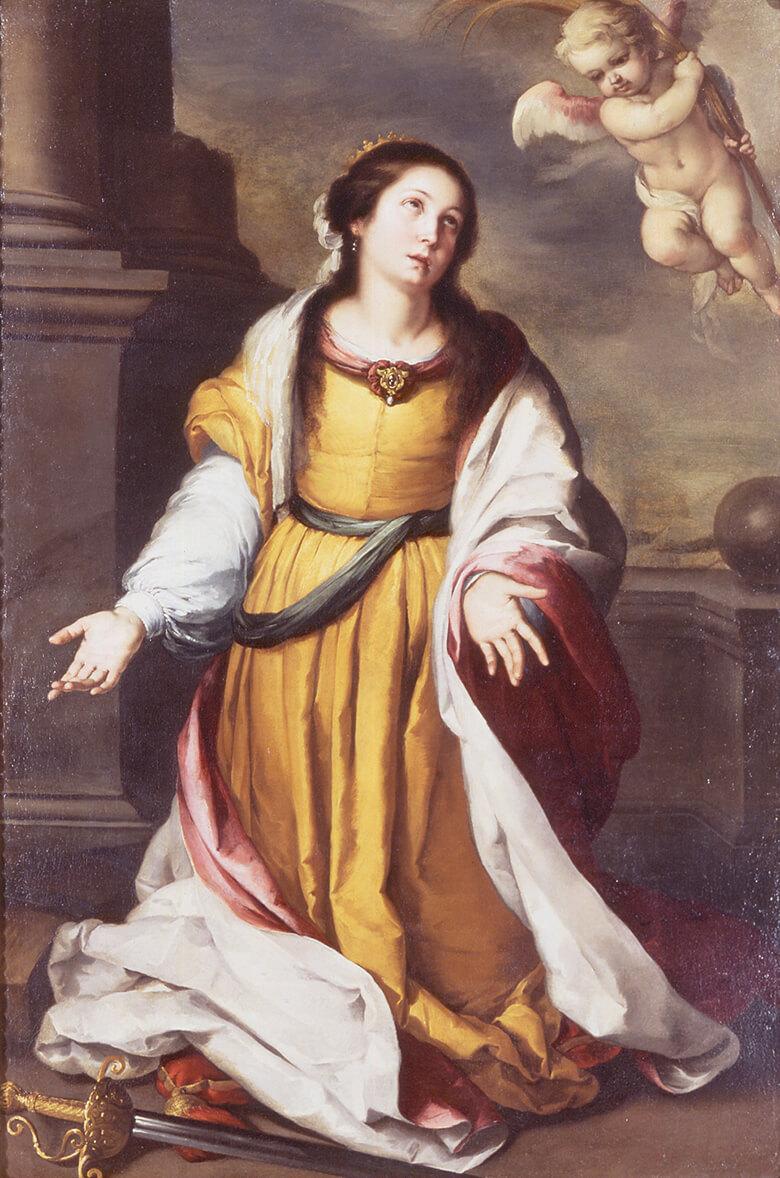 バルトロメ・エステバン・ムリーリョ《アレクサンドリアの聖カタリナ》1645-50年頃 油彩・キャンバス 三重県立美術館蔵
