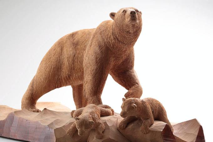 《白熊の親子》(部分)、1999年、個人蔵、撮影:露口啓二
