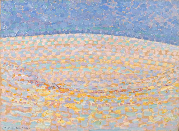 ピート・モンドリアン《砂丘Ⅲ》1909年 油彩、厚紙 デン・ハーグ美術館Kunstmuseum Den Haag