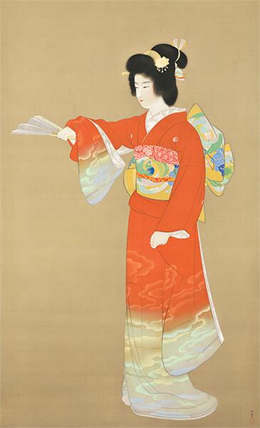 上村松園 《序の舞》 昭和11(1936)年  重要文化財 東京藝術大学蔵